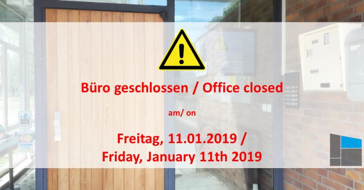 Office closed on Friday, January 11th