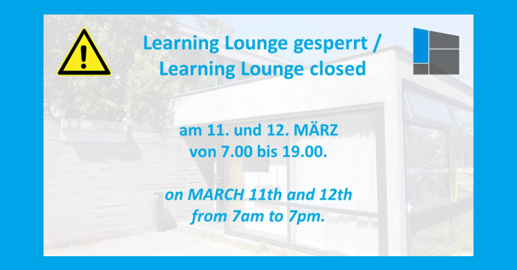 Learning Lounge closed on March 11th and 12th