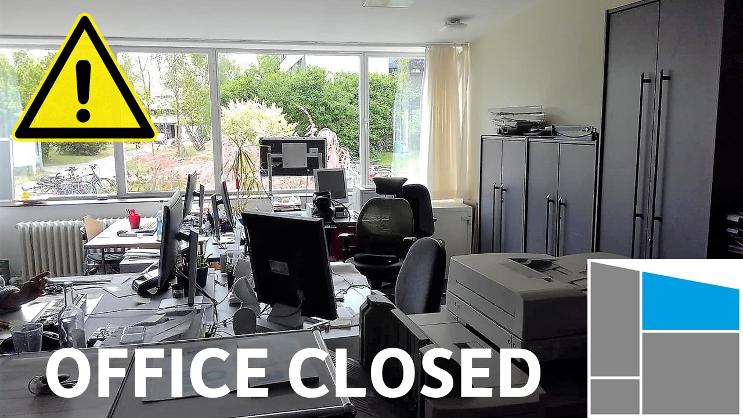 Office closed on Thursday, October 3rd 3